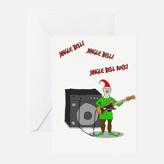 Rockin' Elf Greeting Card