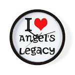 Wall Clock - I Heart Angel's Legacy! NEW!