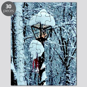 Christmas Lamppost in the Snow Puzzle
