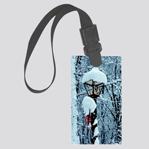 Christmas Lamppost in the Snow Large Luggage Tag
