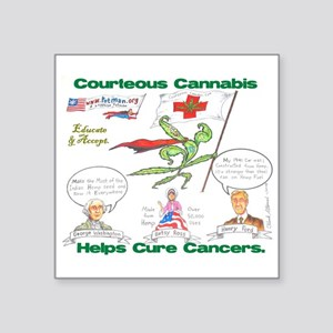 Courteous Cannabis Helps Cure Cancer Sticker