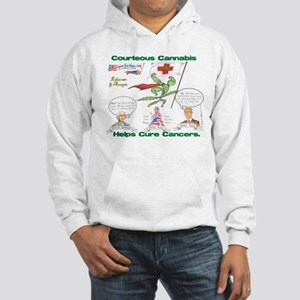 Courteous Cannabis Helps Cure Cancer Hoodie