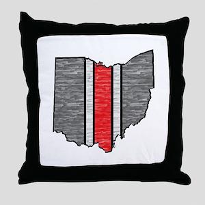 FOR OHIO Throw Pillow