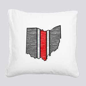 FOR OHIO Square Canvas Pillow