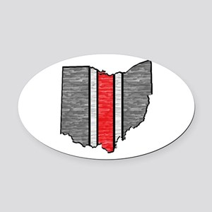 FOR OHIO Oval Car Magnet