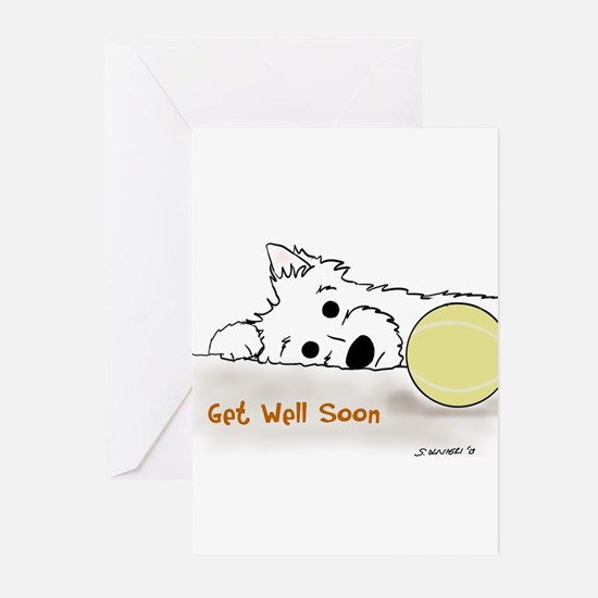 Get Well Westie Greeting Cards