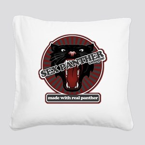 Sex Panther Square Canvas Pillow