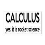 Calculus Is Rocket Science Rectangle Car Magnet