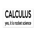 Calculus Is Rocket Science 20x12 Wall Decal
