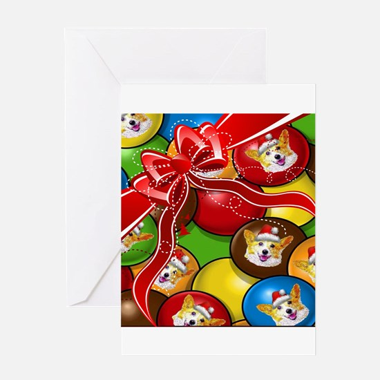 Corgi Candy Present Greeting Cards