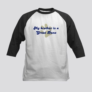My Brother is Great Dane Kids Baseball Jersey