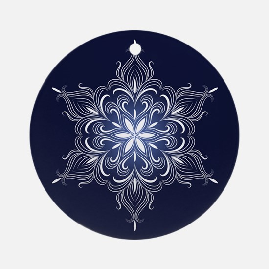 Winter Snowflake Ornament (Round)