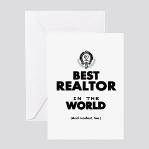 The Best in the World Realtor Greeting Cards