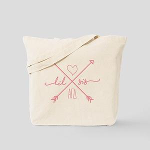 Alpha Gamma Delta Little Arrows Tote Bag