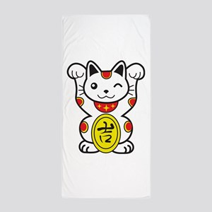 Lucky Cat Beach Towel