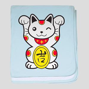 Lucky Cat baby blanket