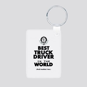 The Best in the World Truck Driver Keychains