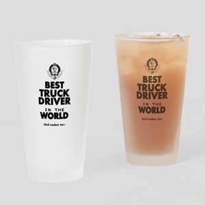 The Best in the World Truck Driver Drinking Glass