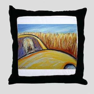 Soft Coated Wheaten Terrier driver Throw Pillow