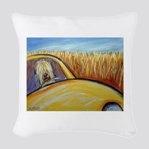 Soft Coated Wheaten Terrier driver Woven Throw Pil