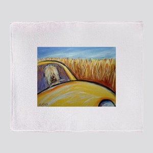 Soft Coated Wheaten Terrier driver Throw Blanket