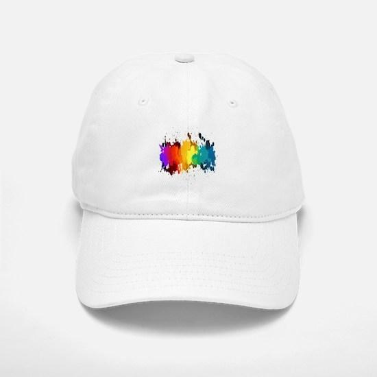 Rainbow Splatter Baseball Baseball Baseball Cap
