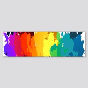 Rainbow Splatter Bumper Sticker