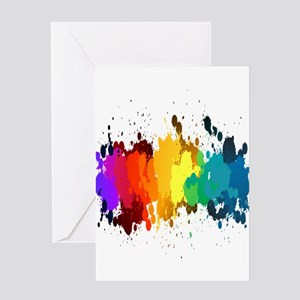 Rainbow Splatter Greeting Cards