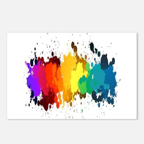 Rainbow Splatter Postcards (Package of 8)
