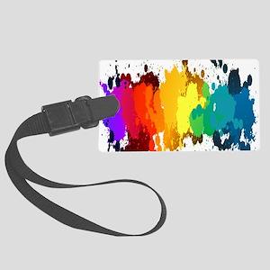 Rainbow Splatter Luggage Tag