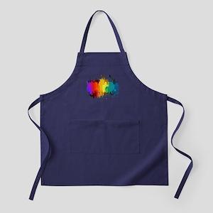 Rainbow Splatter Apron (dark)