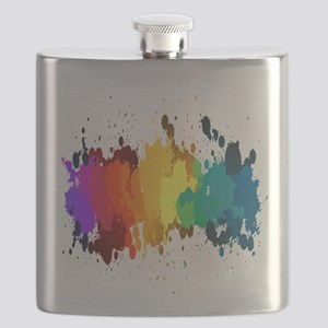 Rainbow Splatter Flask