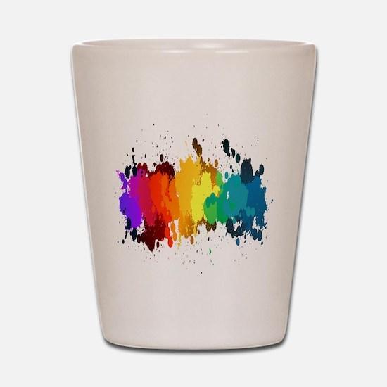 Rainbow Splatter Shot Glass
