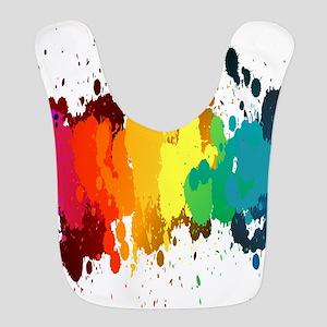 Rainbow Splatter Bib
