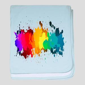 Rainbow Splatter baby blanket