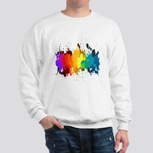 Rainbow Splatter Sweatshirt