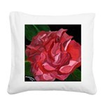My Little Camellia Square Canvas Pillow