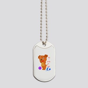 Cute brown dog Dog Tags