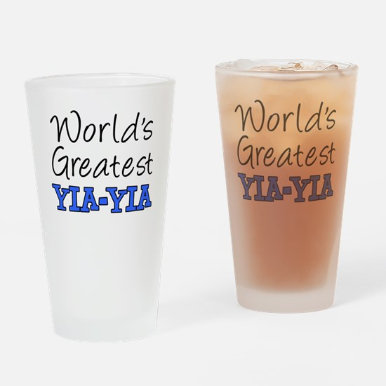 Worlds Greatest Yia-Yia Drinking Glass