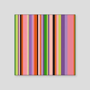 """colorful stripes Square Sticker 3"""" x 3"""""""