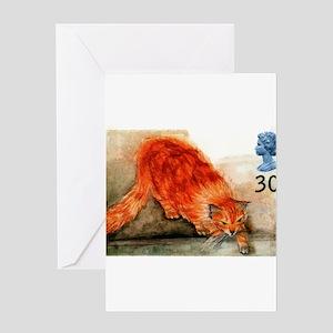 1995 Great Britain Ginger Cat Postage Stamp Greeti