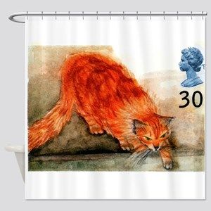 1995 Great Britain Ginger Cat Postage Stamp Shower