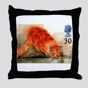1995 Great Britain Ginger Cat Postage Stamp Throw