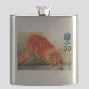 1995 Great Britain Ginger Cat Postage Stamp Flask