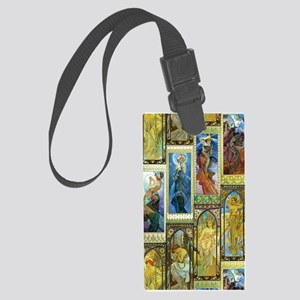 Mucha's Night and Day Luggage Tag