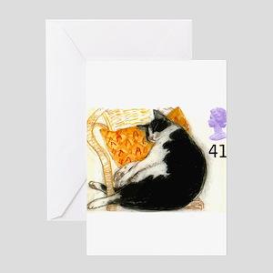 1995 Great Britain Sleeping Cat Postage Stamp Gree