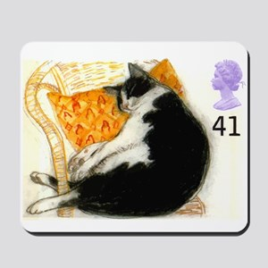 1995 Great Britain Sleeping Cat Postage Stamp Mous