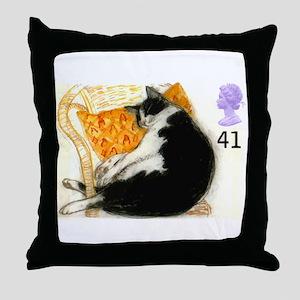 1995 Great Britain Sleeping Cat Postage Stamp Thro