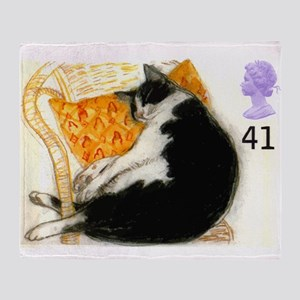 1995 Great Britain Sleeping Cat Postage Stamp Thro