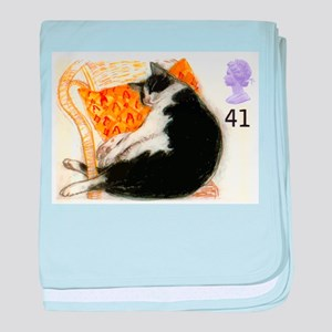 1995 Great Britain Sleeping Cat Postage Stamp baby